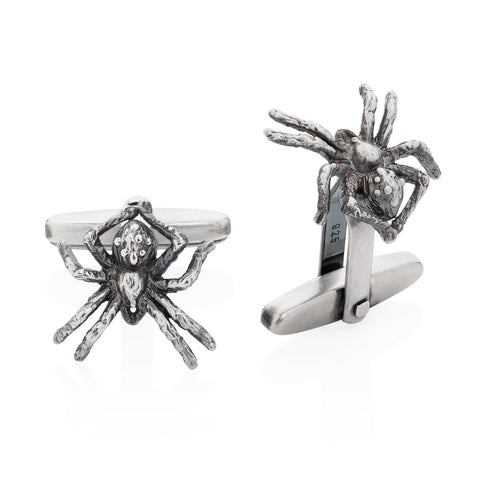 Dark Silver Little Spider Cufflinks