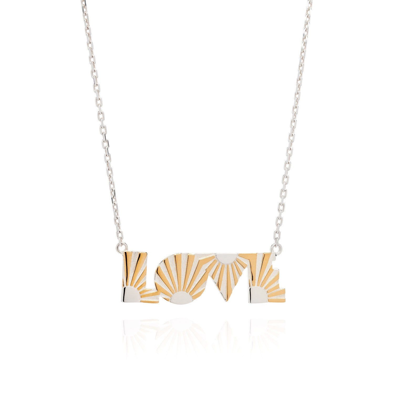 Art Deco Necklace Love