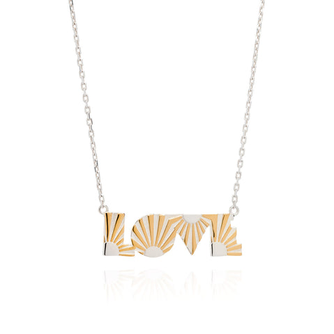 Art Deco Necklace Love Necklace