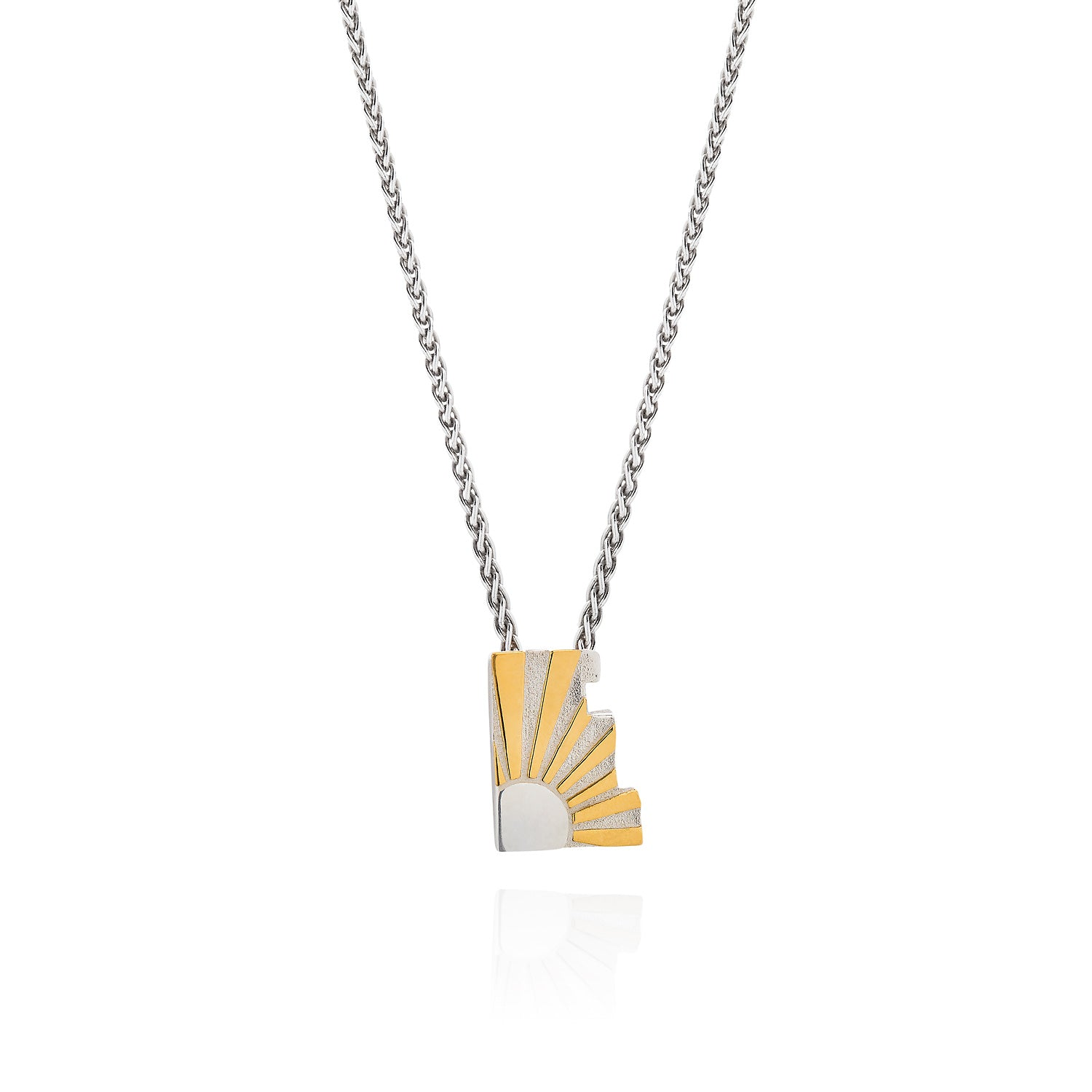 Art Deco Initial Silver Necklace by Yasmin Everley