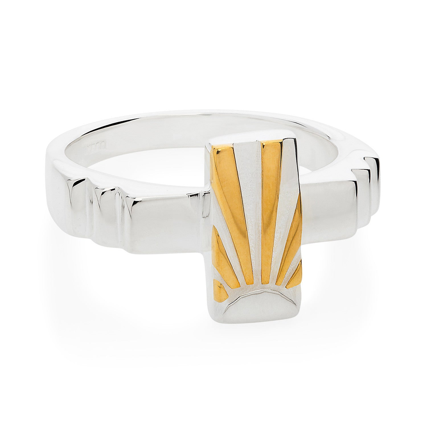 Art Deco Ring Letter I