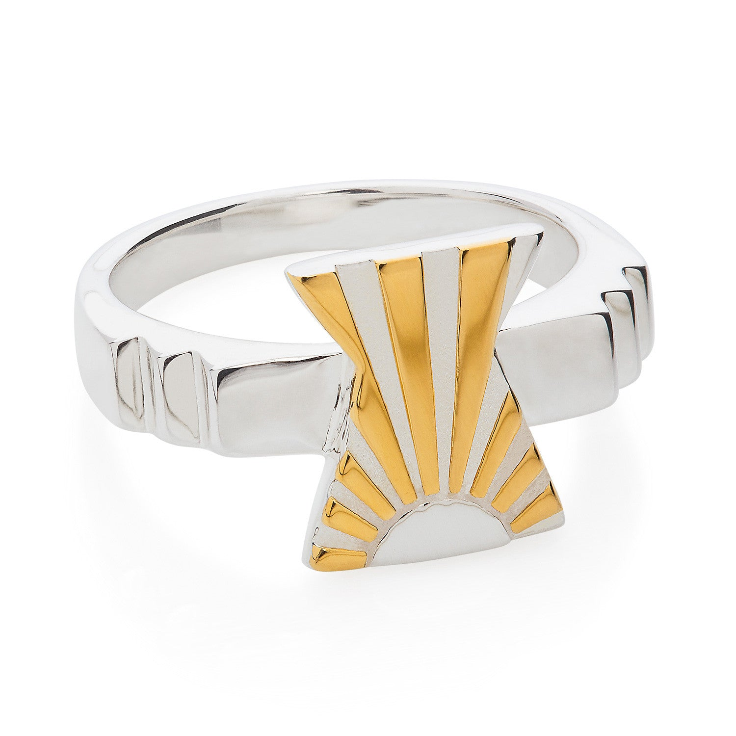 Art Deco Ring Letter X