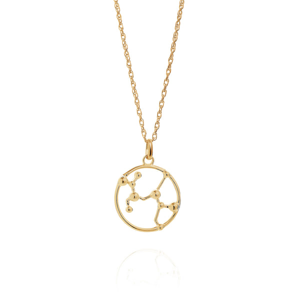 Gold Sagittarius Astrology Necklace
