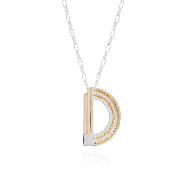 Art Deco Necklace Letter D Necklace