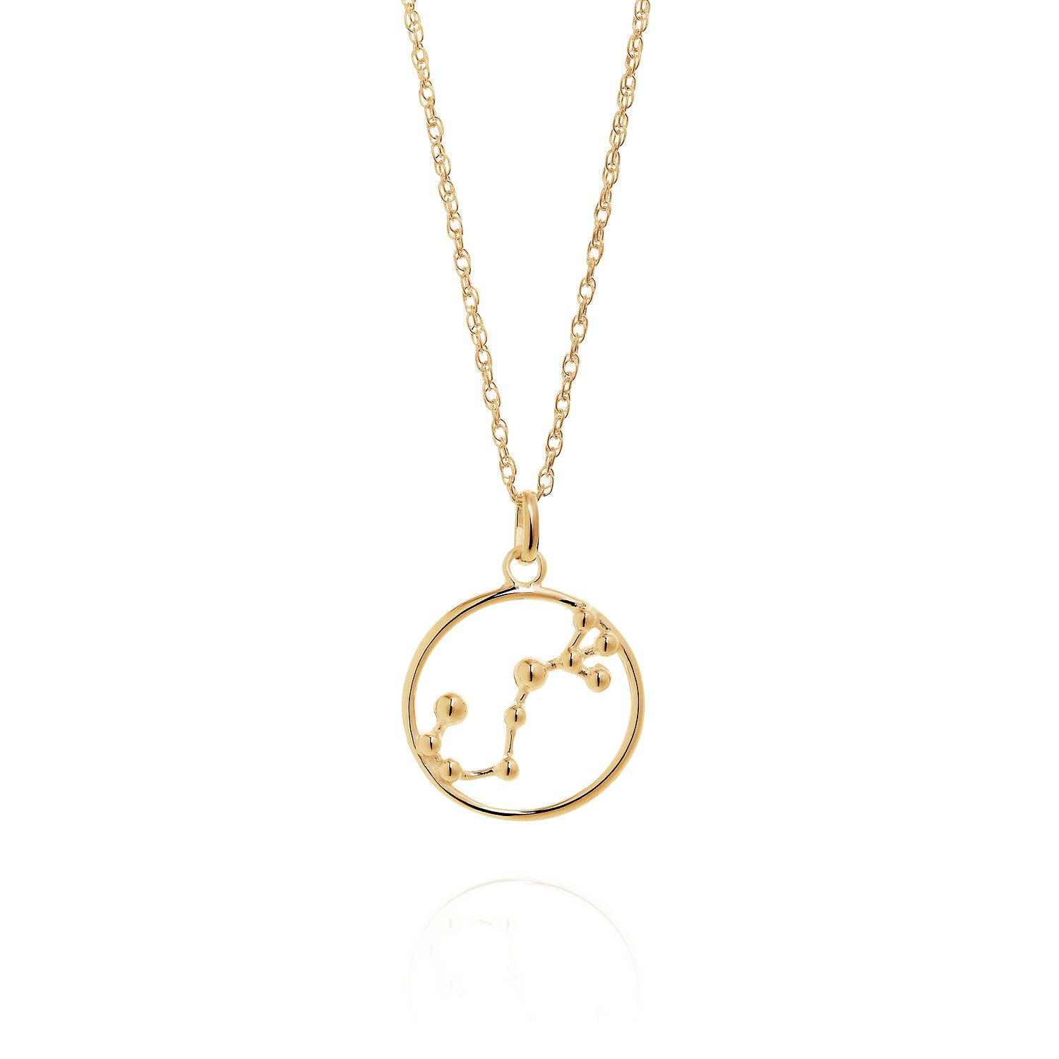 Gold Scorpio astrology star sign Necklace