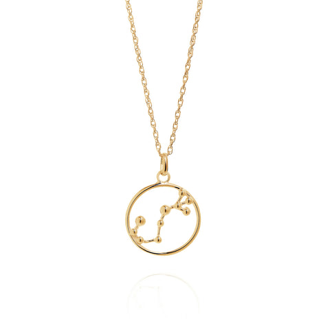Gold Scorpio Astrology Necklace