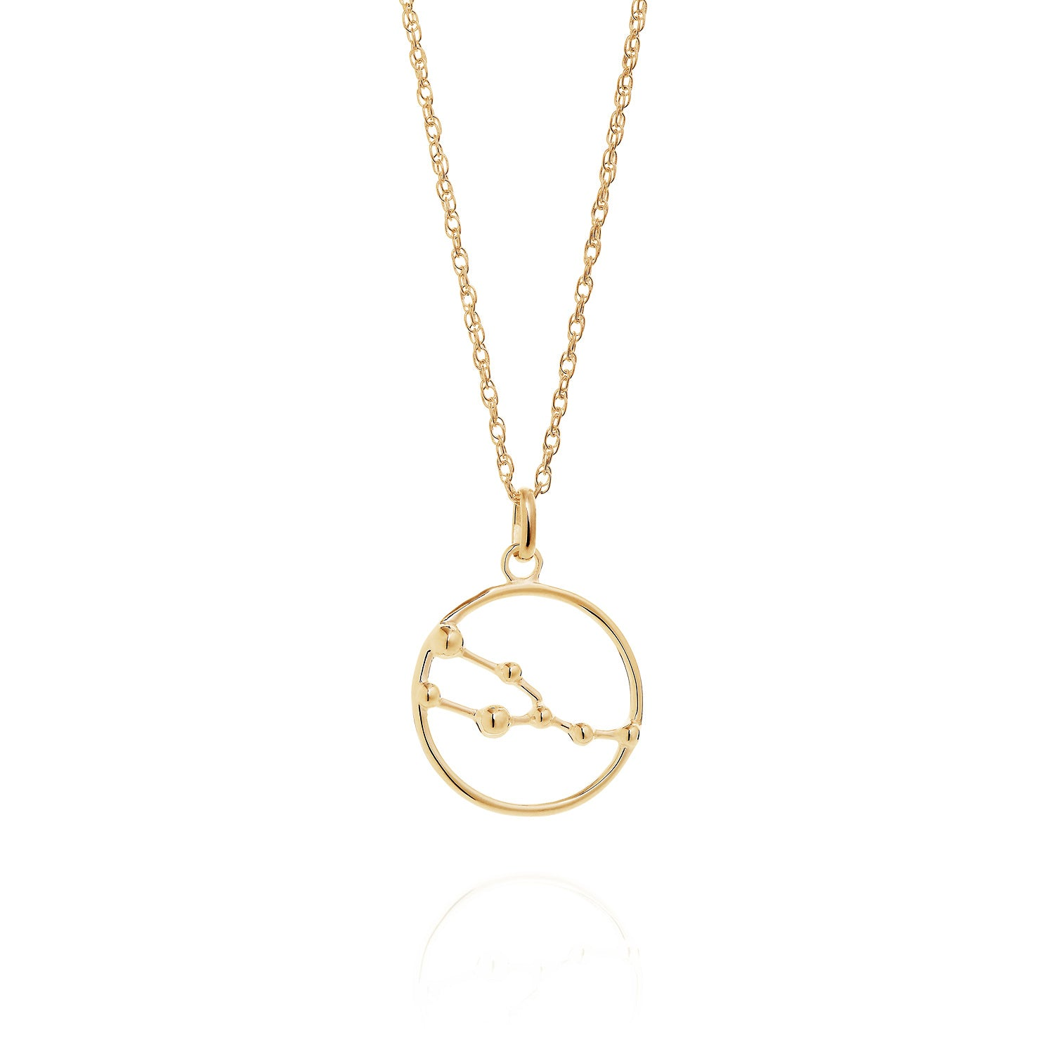 Gold Taurus astrology star sign Necklace