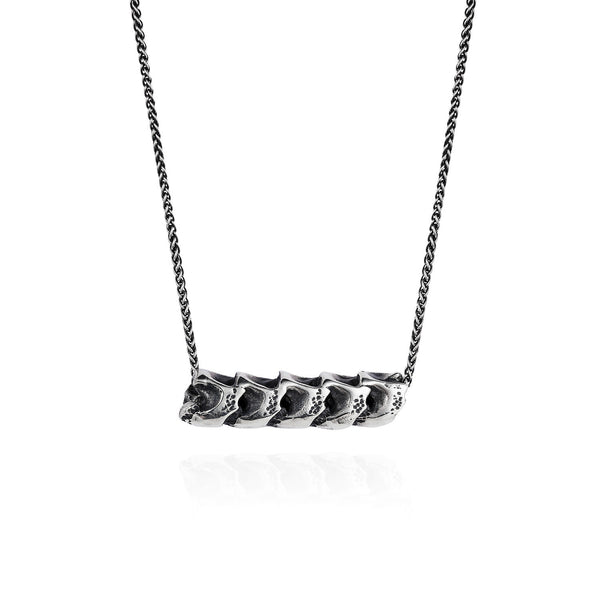 Dark Silver Snake Vertebrae Necklace