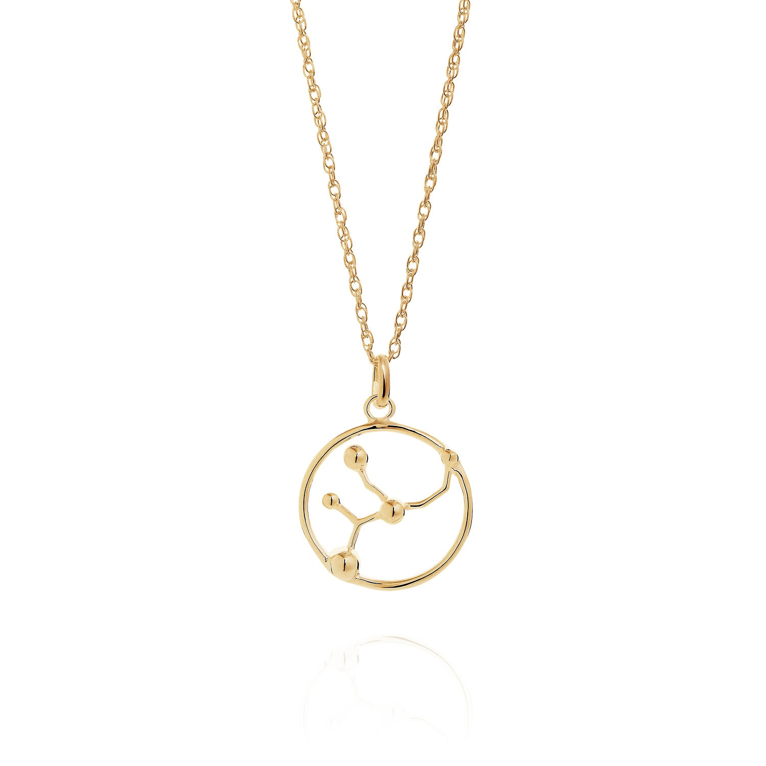Gold Virgo astrology star sign Necklace