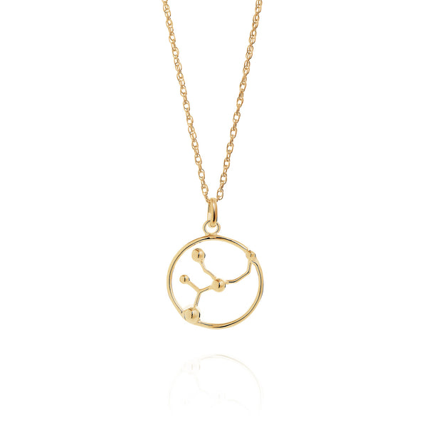 Gold Virgo Astrology Necklace