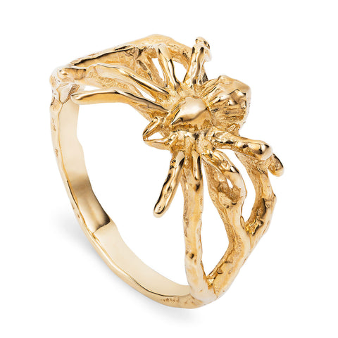 Gold Little Spider Ring
