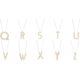 Saxony W Initial Necklace