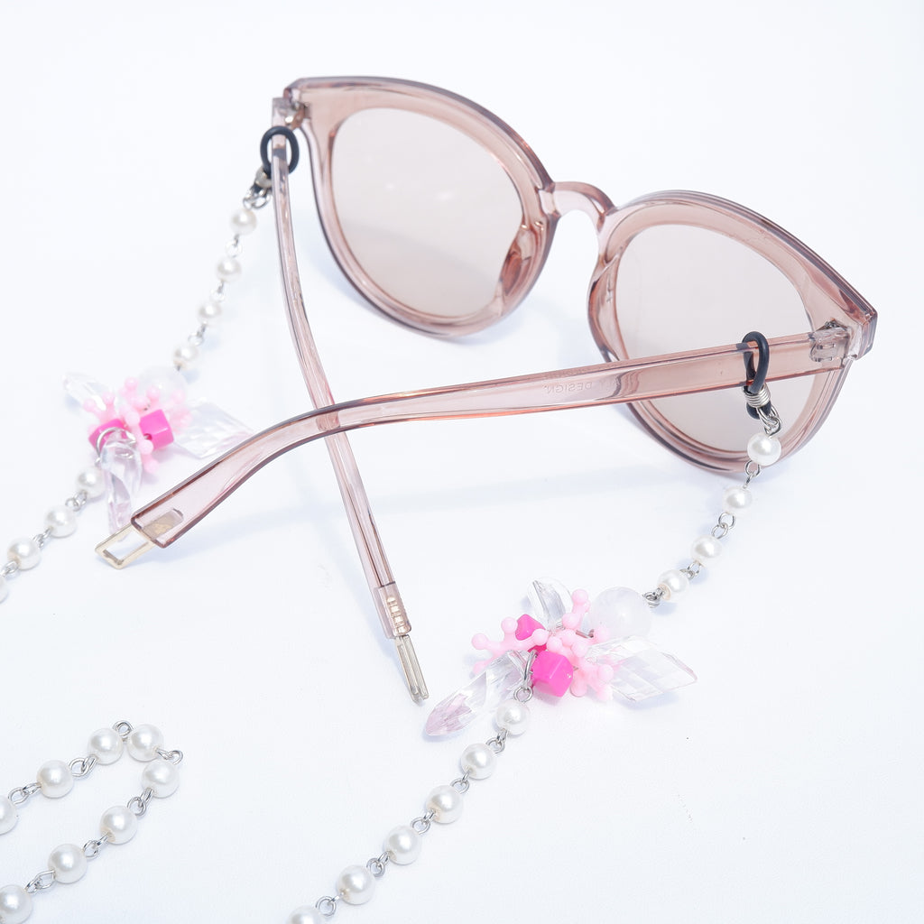 Clover Pink Pearl Sunglasses Strap