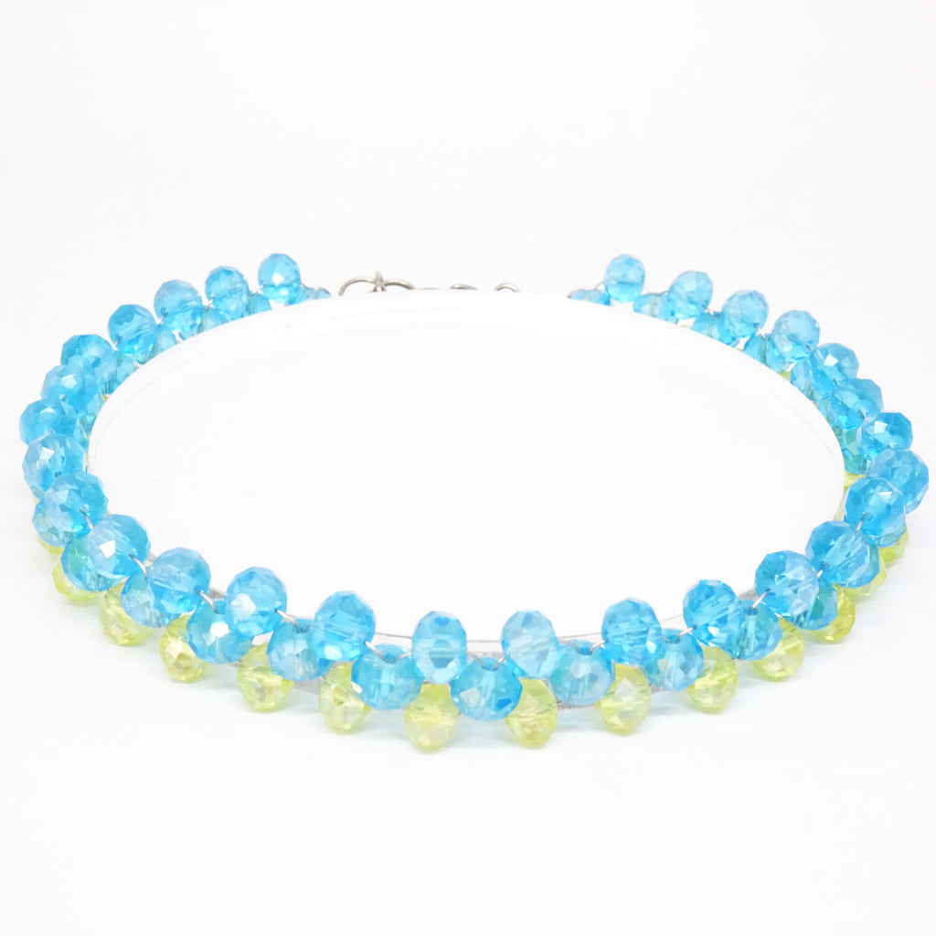 Louisa Blue Yellow Choker - House of Jealouxy