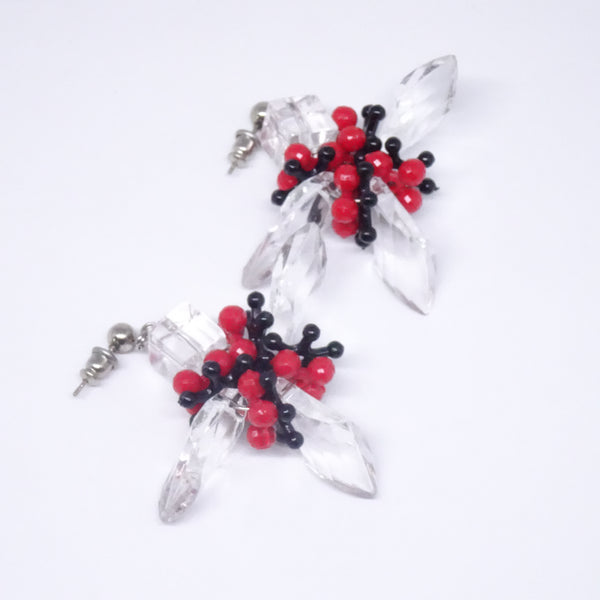 Kale Red Earring - House of Jealouxy
