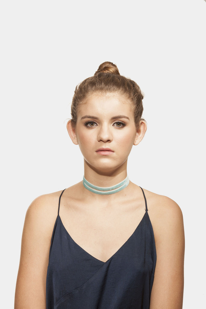 Twinnies Baby Blue Choker
