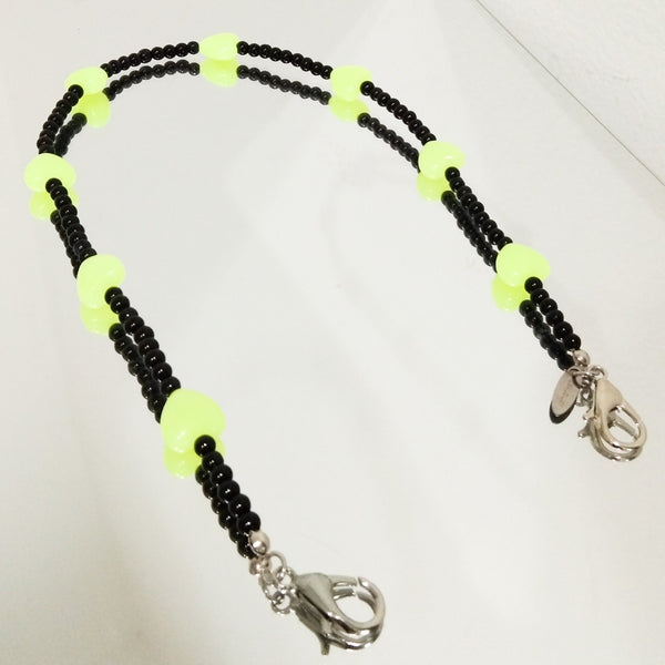 Neon Love Mask Strap Adult Short