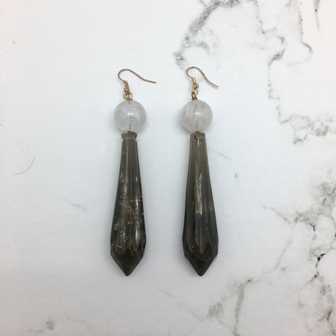 Asti Black Marble Earrings