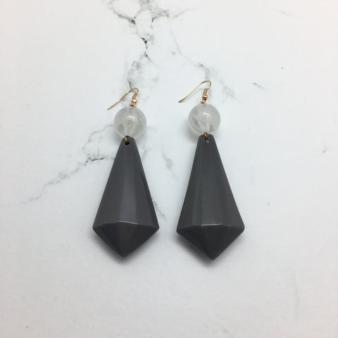 Venice Dark Grey Earrings