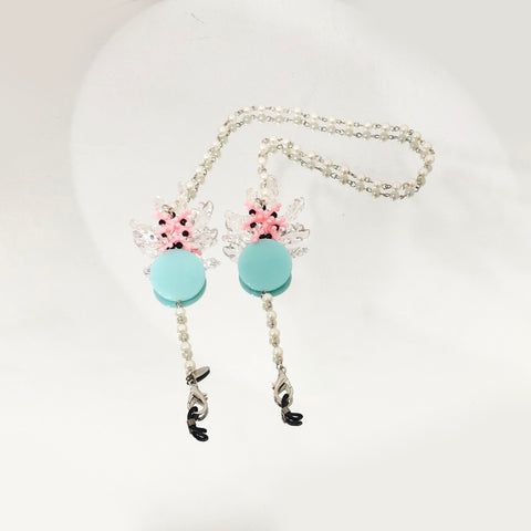 Daisy Teal Pearl Strap
