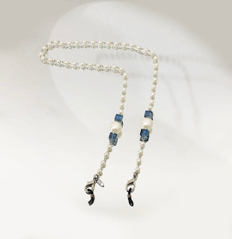 Beatrice Blue Pearl Strap