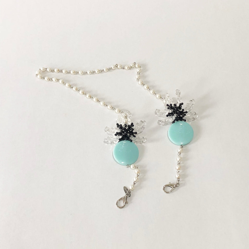 Daisy Teal Pearl Strap 2