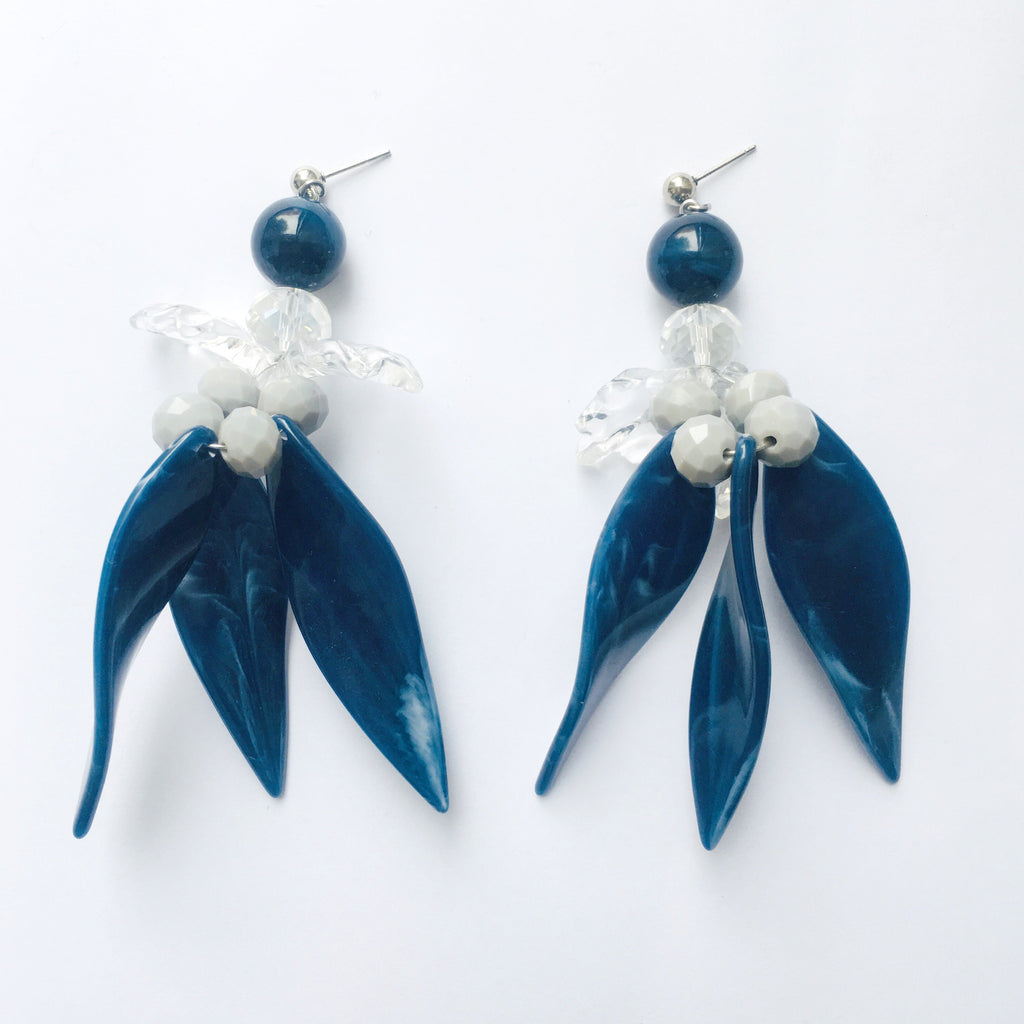 Sedap Malam Blue Earrings - House of Jealouxy