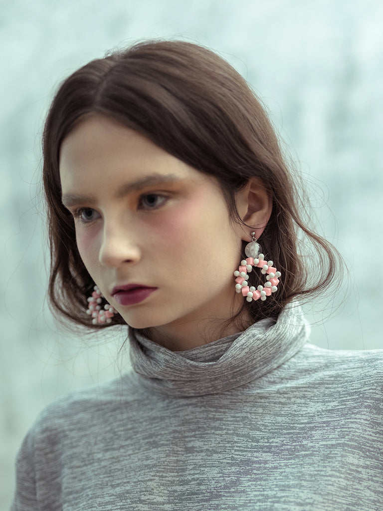 Iris Pink Earring - House of Jealouxy