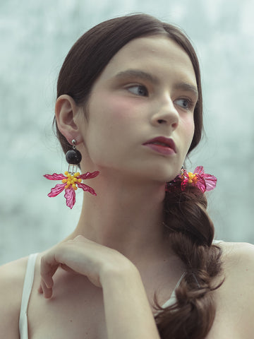 Cosmos Pink Earring