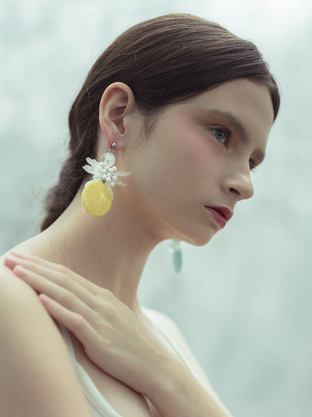 Mimosa Yellow Earring