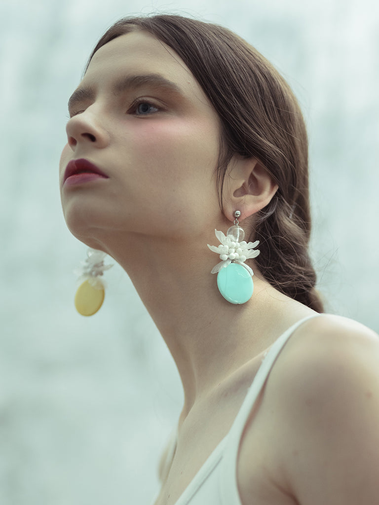 Mimosa Teal Earring