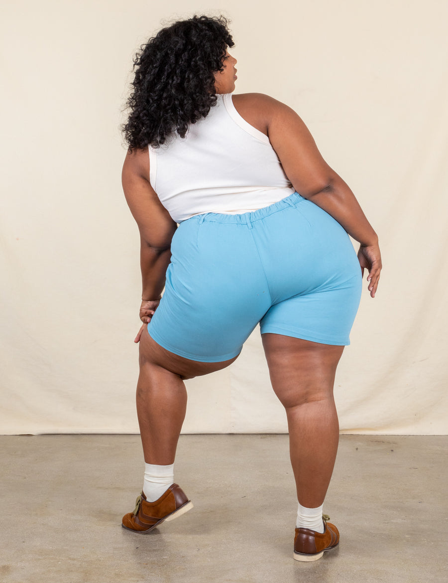 Trouser Shorts - Baby Blue