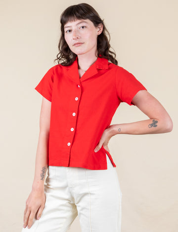 Pantry Button-Up - Mustang Red