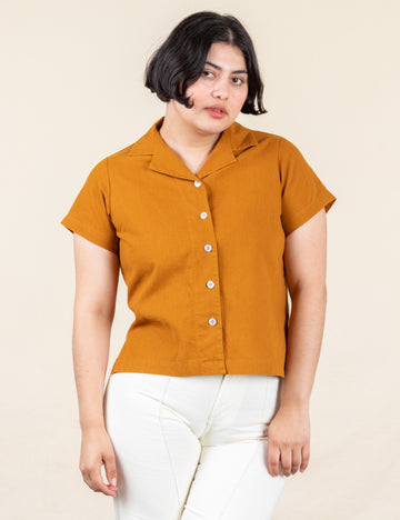 Pantry Button-Up - Spicy Mustard