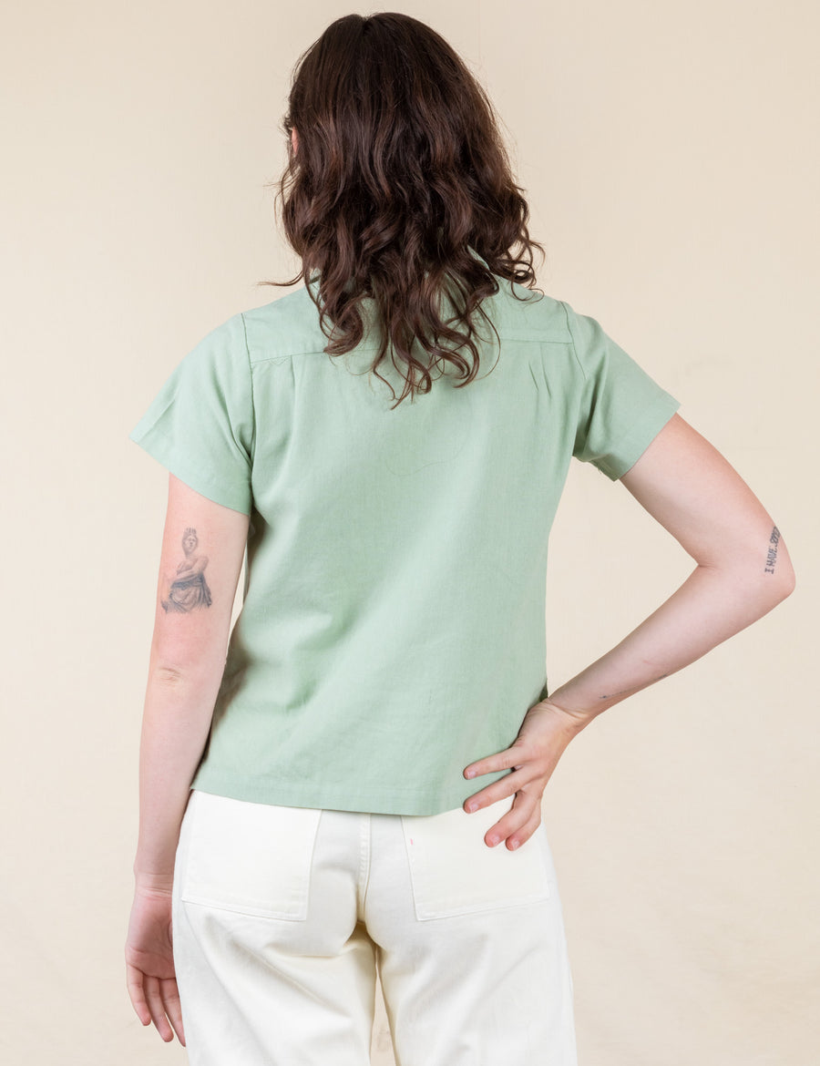 Pantry Button-Up - Sage Green