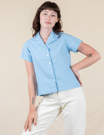 Pantry Button-Up - Baby Blue