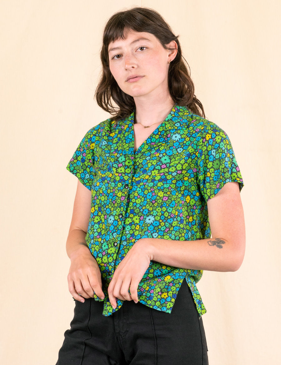 Pantry Button-Up - Moss Blossom