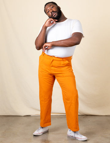 Work Pants - Creamsicle Orange