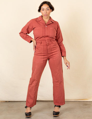 Everyday Jumpsuit - Clay Red