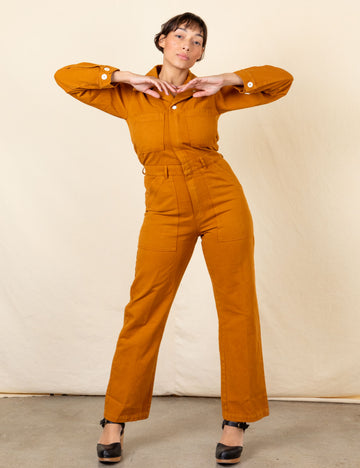 Everyday Jumpsuit - Spicy Mustard