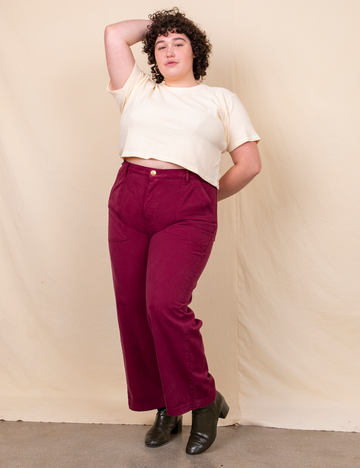 Work Pants - Cranberry Red