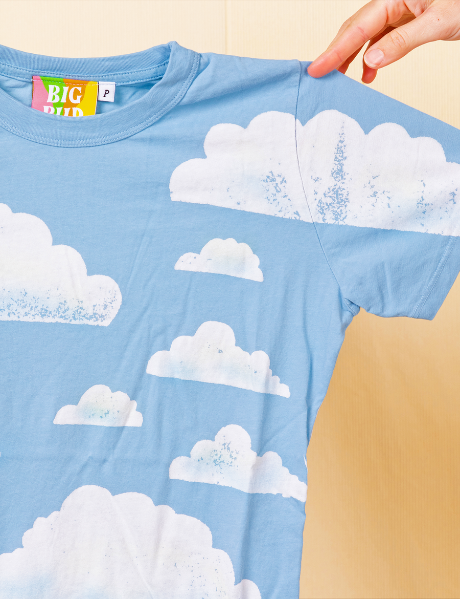 Clouds Paint-Stamp Tee