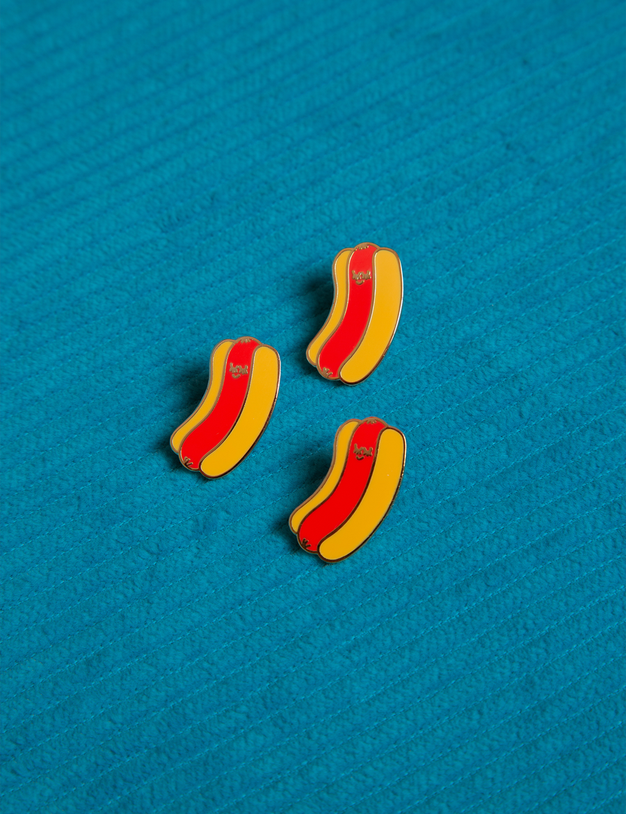 Hot Dog Baby Pin