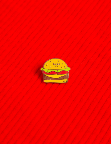 Hamburger Baby Pin