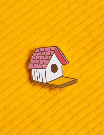 Bird House Pin