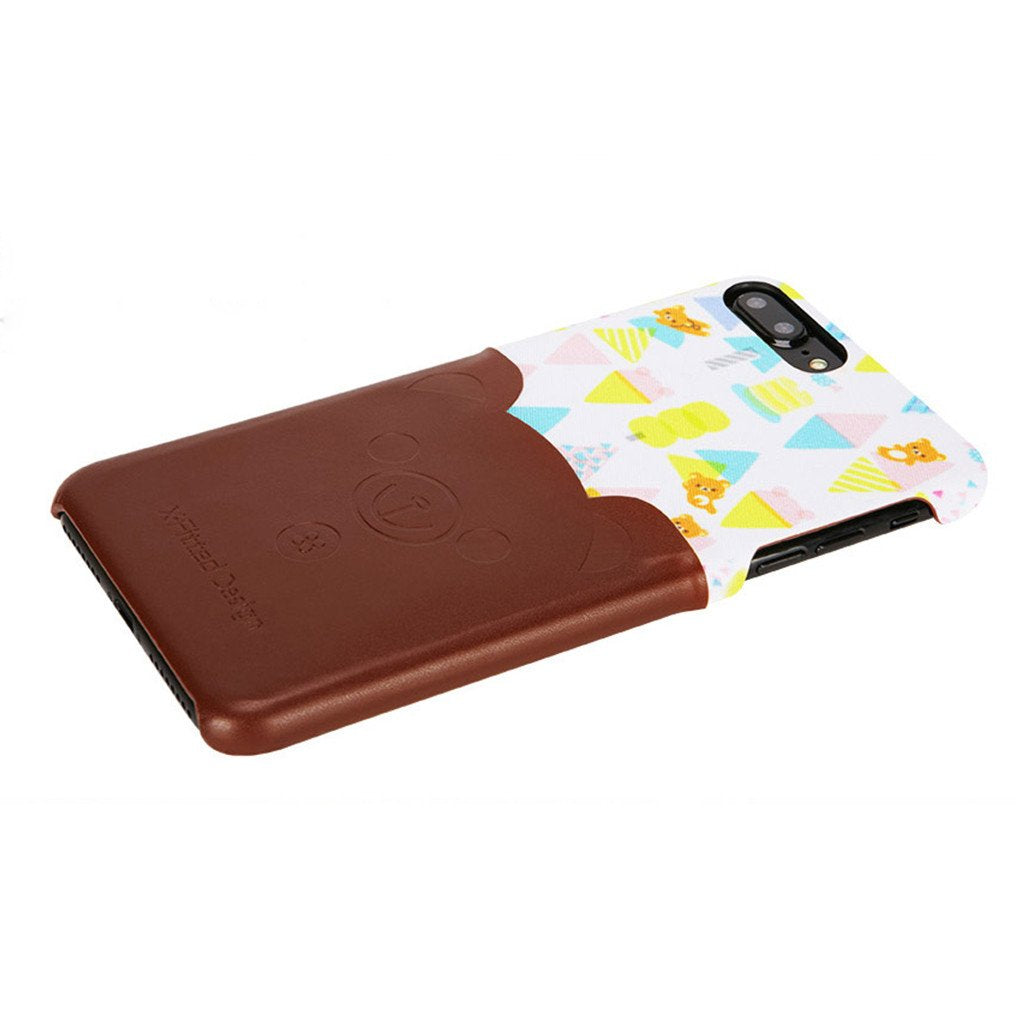 i763 X-Fitted Little Bear Stylish Coated Leather Case for iPhone - i-s-mart.com | No.1 Branded Online Shop in Cambodia
