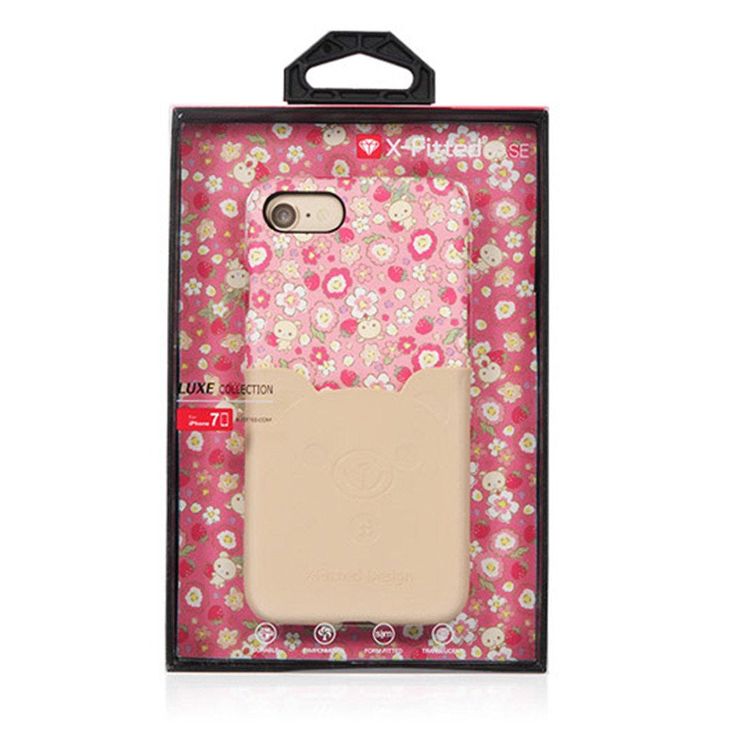 i764 Pink Floral Stylish Coated Leather Case Series for iPhone 7 / 7 Plus - i-s-mart.com | No.1 Branded Online Shop in Cambodia