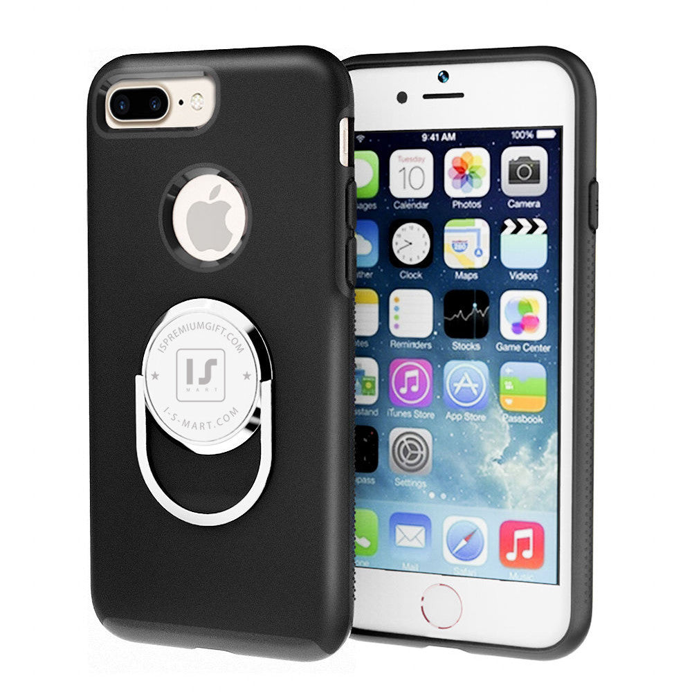 i746 iPhone 5/s, SE, 6/s, 6/s 7/ Plus Soft TPU Case with 360 Degree Rotation Bracket - i-s-mart.com | No.1 Branded Online Shop in Cambodia