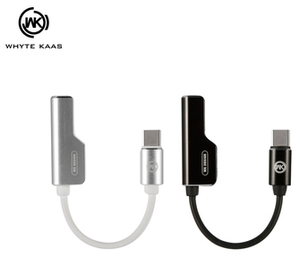 WDC-071a Wolim 2-in-1 Audio Adapter Cable  3.5mm-TypeC - i-s-mart.com | No.1 Branded Online Shop in Cambodia