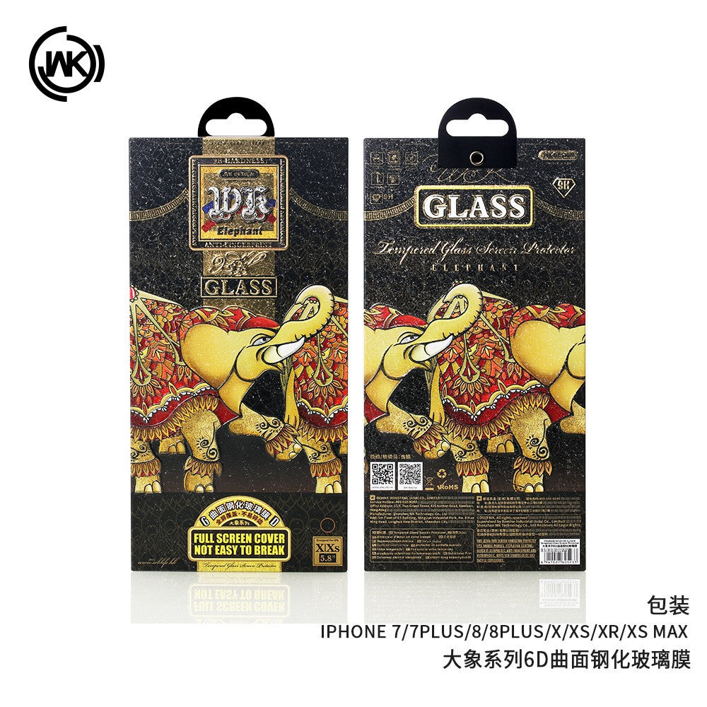 WTP-018 Elephant 6D Full Screen Protector for iPhone